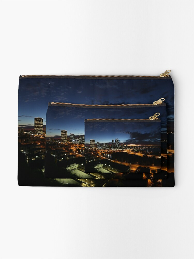 Alternate view of Perth City at Dawn Zipper Pouch