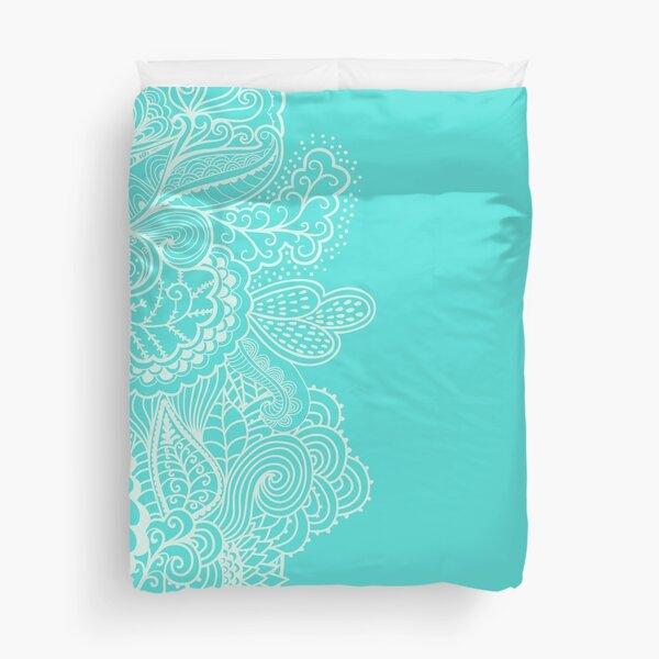 Turquoise Mehndi Duvet Cover