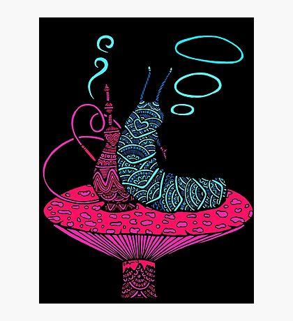 Hookah Smoking Caterpillar V.6.0 Photographic Print