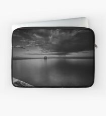 Incoming Storm, Merewether Ocean Baths, mono Laptop Sleeve