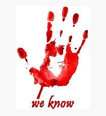 We Know - Dark Brotherhood - Watercolor Photographic Print