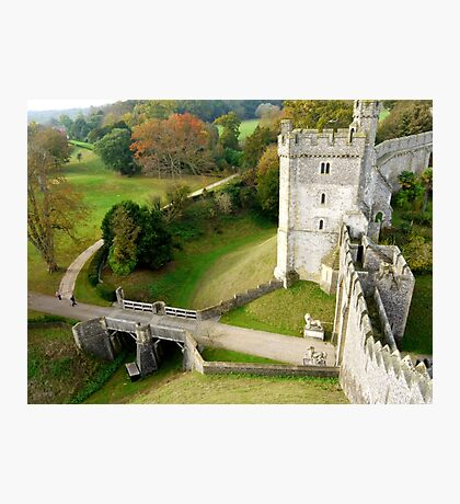 Arundel Castle Gateway & Moat Photographic Print