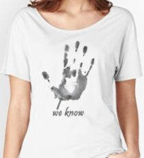 We Know - Dark Brotherhood - Watercolor Women's Relaxed Fit T-Shirt