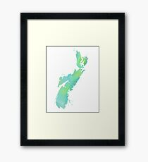 Watercolour Province - Nova Scotia  Framed Print