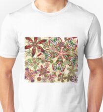Christmas Kaleidoscope Floral 2 Unisex T-Shirt