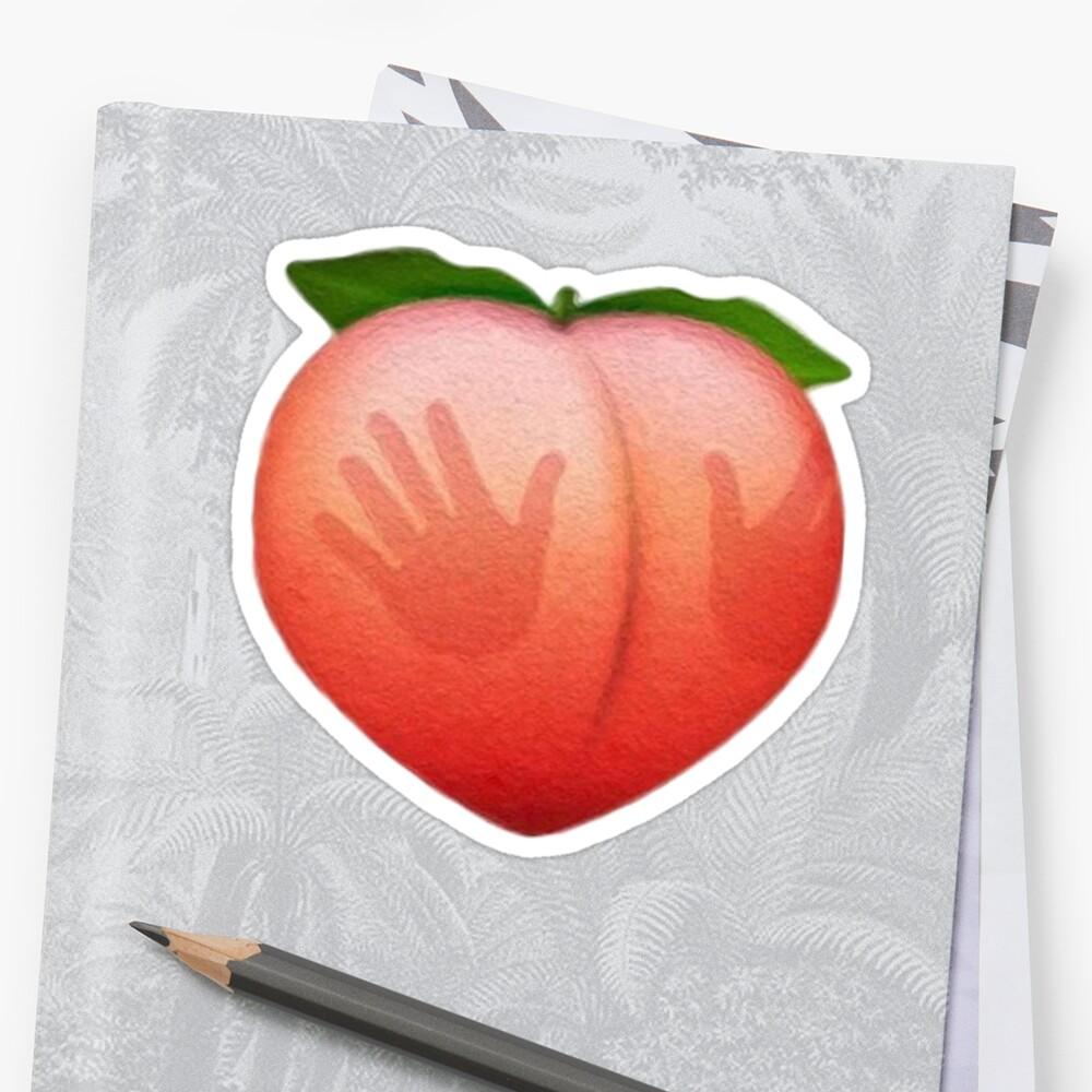 Booty Peach Pegatina
