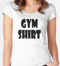 gym shirt Women's Fitted Scoop T-Shirt