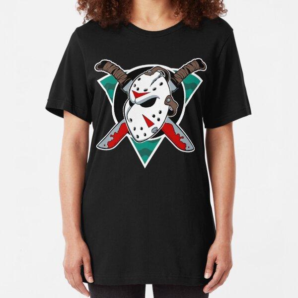 Crystal Lake Ice Hockey Slim Fit T-Shirt