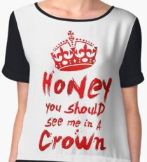 Moriarty Quote Chiffon Top