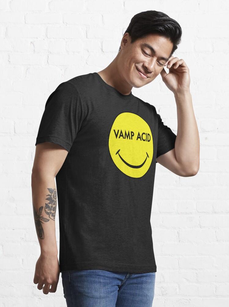 Alternate view of Vamp Acid Techno Electro Smiley Essential T-Shirt