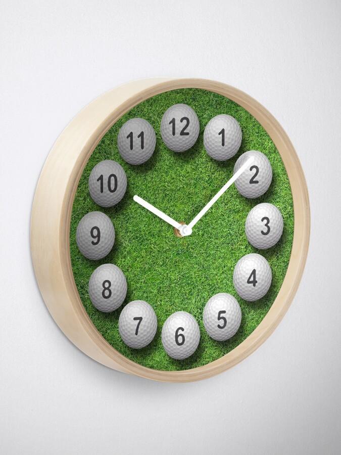 Alternate view of Golf Balls Timepiece Clock