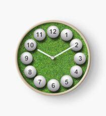 Golfbälle Uhr Uhr