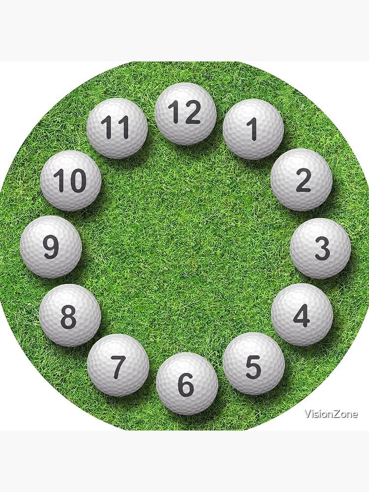 Golf Balls Timepiece by VisionZone