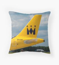 Monarch Airlines Airbus A321 tail livery Throw Pillow