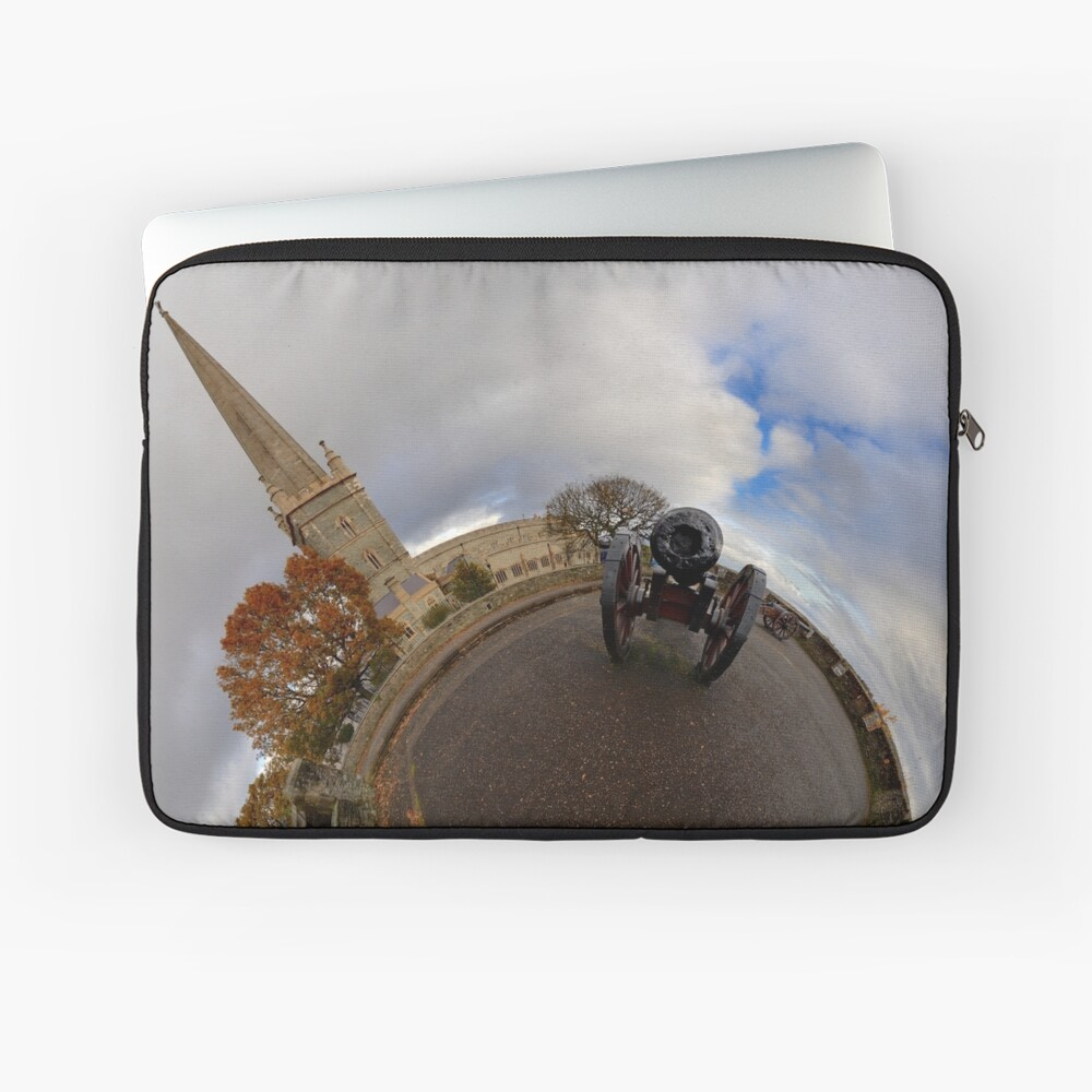 St Columb's Cathedral from Derry's Walls at Church Bastion, Derry Laptop Sleeve