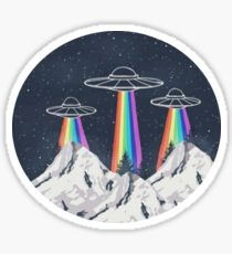 Spaceships Sticker
