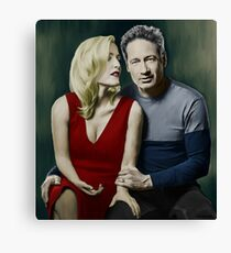 Gillian Anderson and David Duchovny Canvas Print