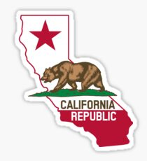California Republic Design Sticker