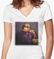 Frank Reynolds with Banana Women's Fitted V-Neck T-Shirt