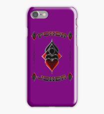 Great Poker Joker Design Spades Hearts Diamonds Club Shiny Bling Overlap iPhone Case/Skin