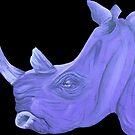 Purple Rhino by kruzadar