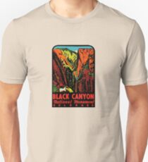 Black Canyon Vintage Travel Decal Unisex T-Shirt