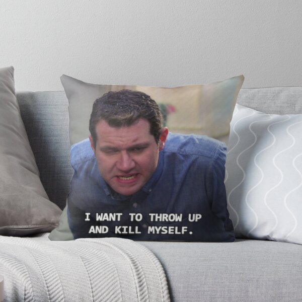 Craig Parks and Rec--I want to throw up and kill myself Throw Pillow