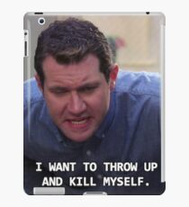 Craig Parks and Rec--I want to throw up and kill myself iPad Case/Skin
