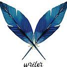 Writer! Blue Feathers by Neli Dimitrova