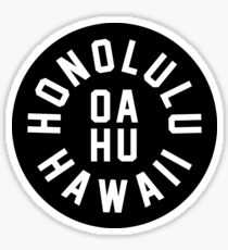 Honolulu - Oahu - Hawaii Sticker