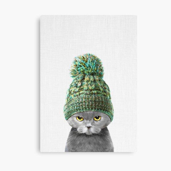 Kitten wearing a hat Canvas Print