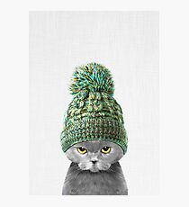 Kitten wearing a hat Photographic Print