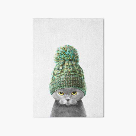 Kitten wearing a hat Art Board Print