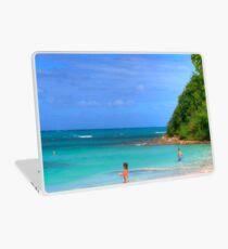 Beach in Antigua Laptop Skin