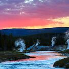 Firehole Sunset by James Anderson