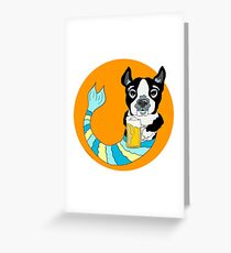 Bonker the Boston Terrier Greeting Card