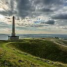 The Lansdowne Monument overlooking a sort of 'Neolithic Ampitheatre' in Wiltshire by MarcW