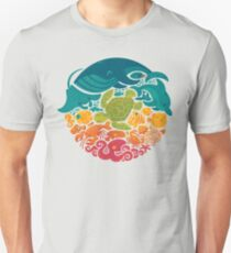 Aquatic Rainbow (light blue) T-Shirt
