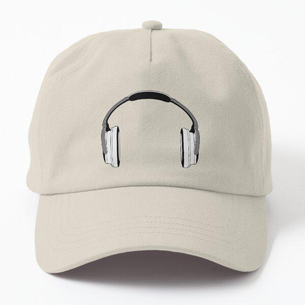 Headphones (Grey&White) Dad Hat