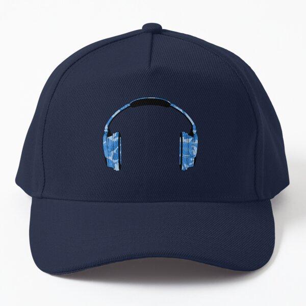 Headphones (Blue-Camouflage) Baseball Cap