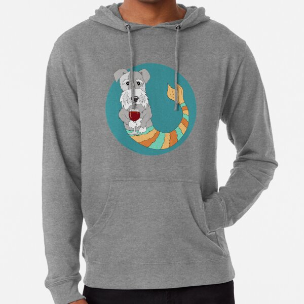 Sidney the Schnauzer Mermutt Lightweight Hoodie