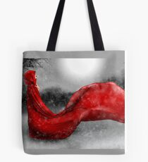 Red Winter Tote Bag