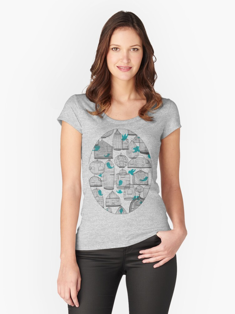 CHIRP! CHIRP! (light) Women's Fitted Scoop T-Shirt Front