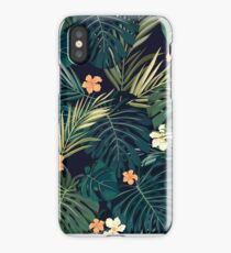 Tropical Hawaiian Flower Print iPhone Case