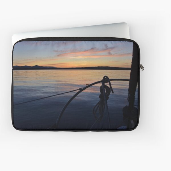 Sailing of Gabriola Island by Vancouver Island, British Columbia, Canadada Laptop Sleeve