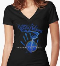 Water Is Life - I Stand with Standing Rock Women's Fitted V-Neck T-Shirt