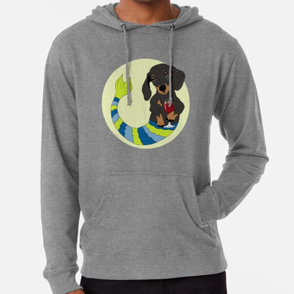 Truman the Dachshund Mermutt Lightweight Hoodie