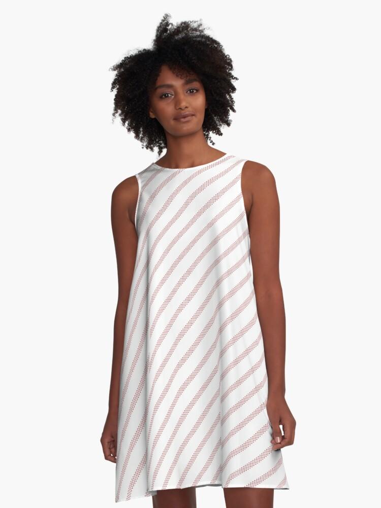 Diamond Line Art - 101 A-Line Dress Front