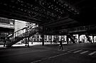 Crossing under the L - Chicago by Norman Repacholi
