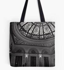 Light spills through stained glass - Chicago Tote Bag